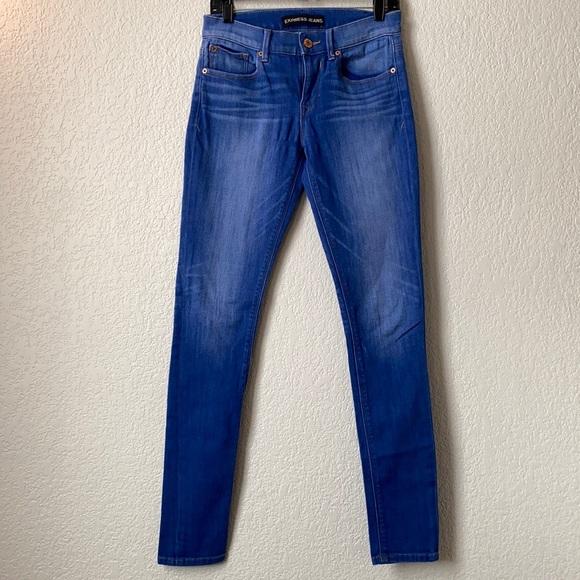 EXPRESS Blue Skinny Jeans
